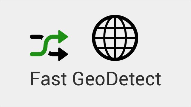 Fast GeoDetect