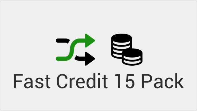 Fast Credit 15 Pack