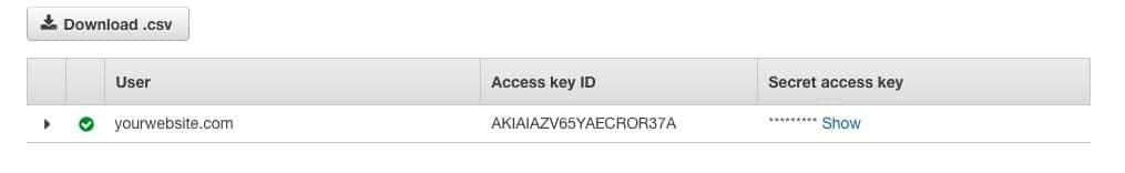 Fast Member Amazon IAM Access Keys