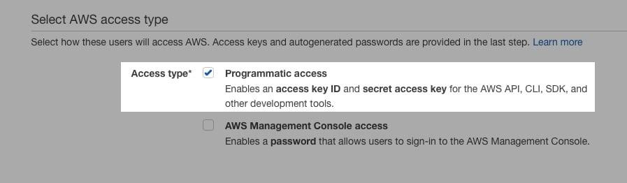 Fast Member Amazon IAM Programmatic Access