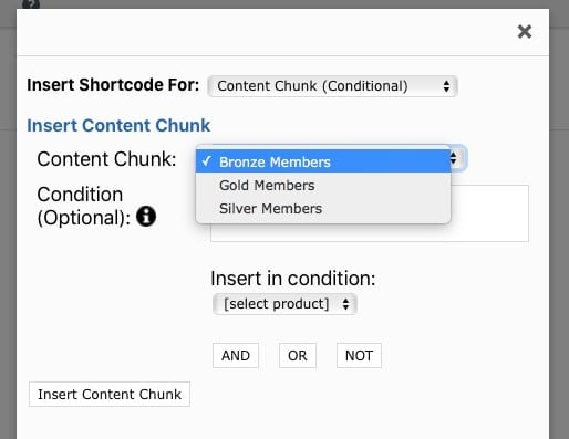 Fast Member Choose Content Chunk For Condition