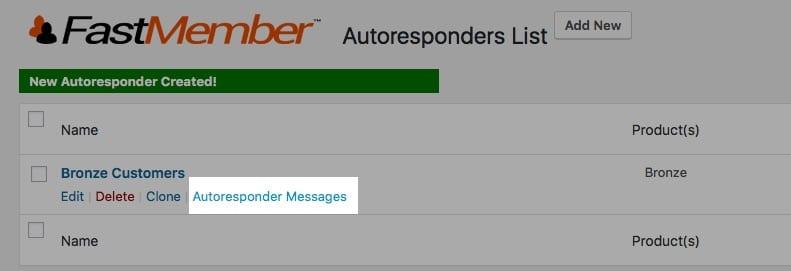 Fast Member Click Autoresponder Messages