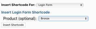 Fast Member Insert Login Form Shortcode