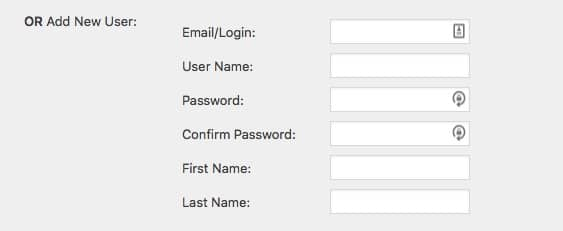 Fast Member Manually Add Member Form