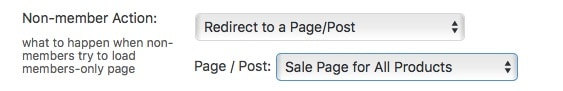 Fast Member Non Member Action Redirect To Custom Page