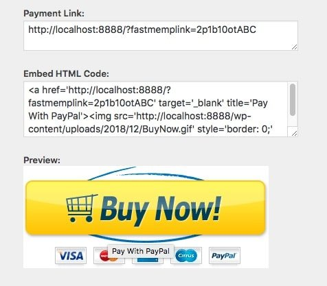 Fast Member Payment Button Generator Button and Link Codes