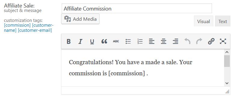 Affiliate Commsion