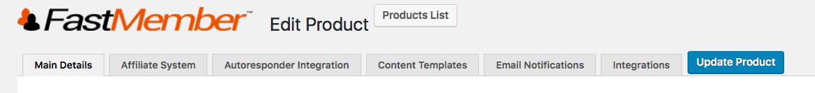 Product Settings Tabs